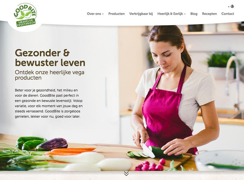 Screenshot of GoodBite website