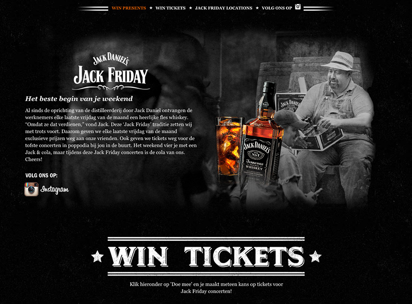 Screenshot of Jack Friday website