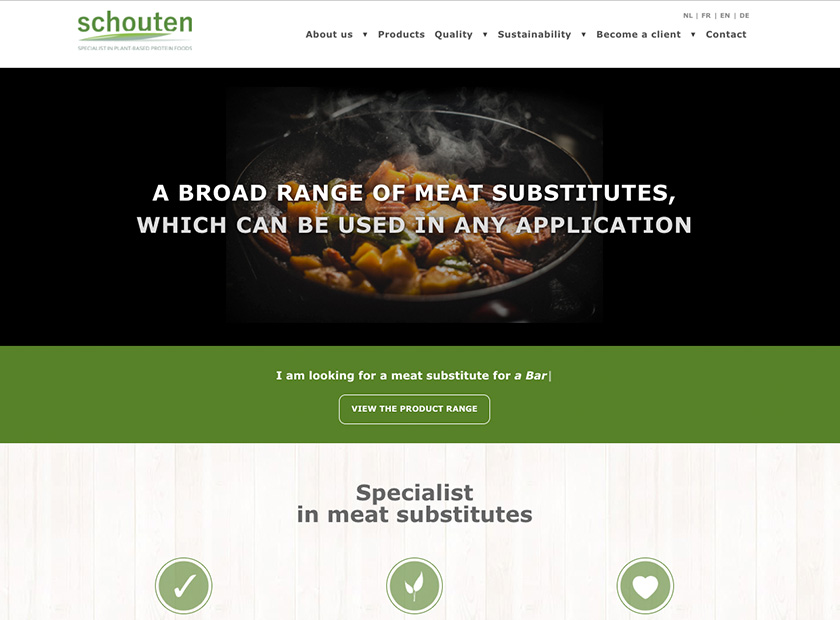 Screenshot of Schouten Europe website